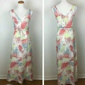 Lucky Brand White Floral Sleeveless  Maxi Dress